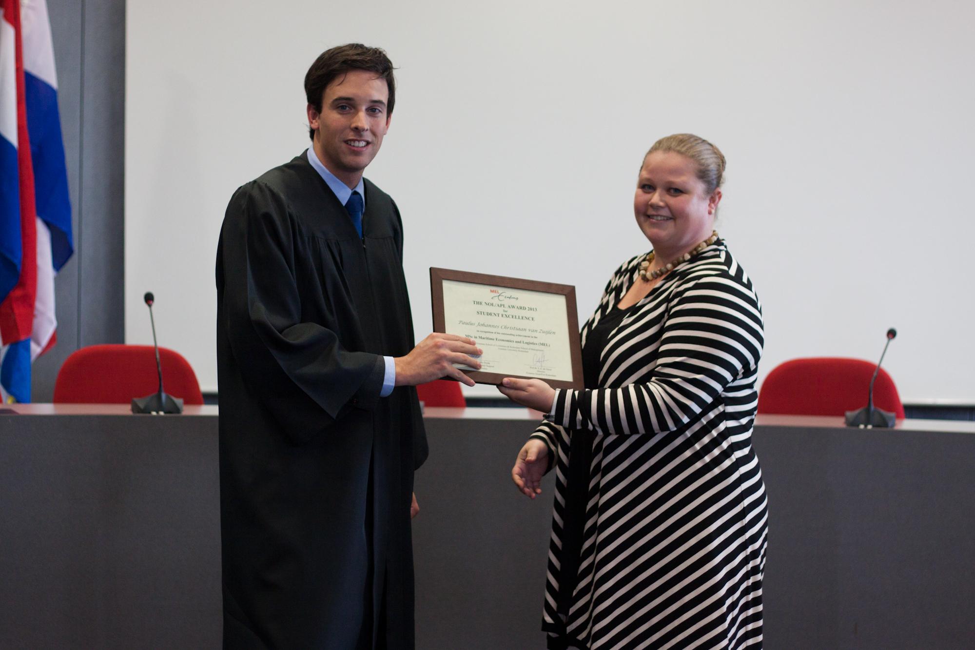 Class of 2013_Paulus van Zuijlen (Student Excellence)